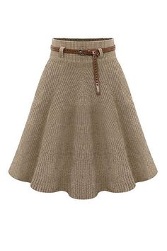 2 Colors High Waist Knit Midi Skater Skirt You are in the right place about knitted scarf Here we offer you the most beautiful pictures about the free Midi Skater Skirt, Pleated Skirt, Knit Skirt, Knit Dress, Knit Fashion, Pulls, Baby Knitting, Knitwear, Knit Crochet