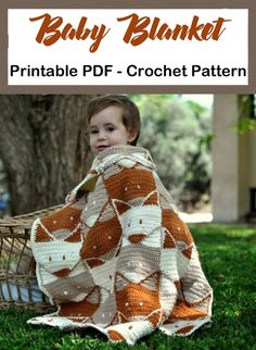 Crochet Baby Blanket Patterns - A More Crafty Life baby blanket baby clothes baby projects baby stuff baby toys Crochet Blanket Patterns, Baby Blanket Crochet, Baby Patterns, Knitting Patterns, Afghan Patterns, Baby Afghans, Afghan Crochet, Manta Crochet, Knitted Baby Blankets