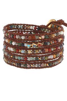 Multi Cabochon Wrap Bracelet - Chan Luu
