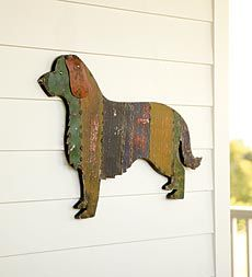 Recycled Metal Golden Retriever Wall Hanging - if only this were a Labrador I would not be able to resist getting it!
