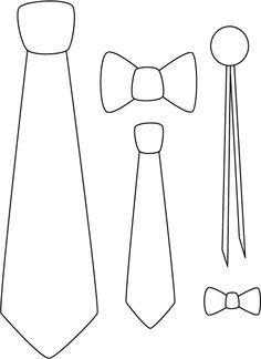 cotillon casamiento MOLDES corbatas - Buscar con Google