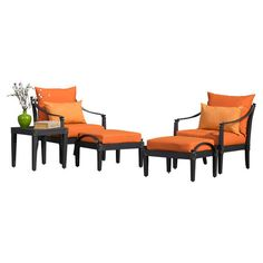 Gather guests for cocktails on your patio or enjoy an afternoon around the pool with this classic outdoor seating group set. This stylish collection features...