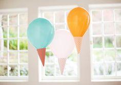 Decoración de cumpleaños con helados - Inspiración e ideas para fiestas de cumpleaños - Fiestas de cumple para niños - Charhadas.com