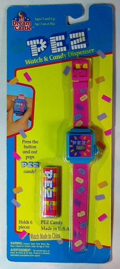 Pez Watch And Candy Dispenser