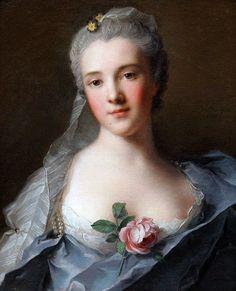 Manon Balletti by Jeanmarc Nattier, 1757 - One of Giacomo Casanova's lovers