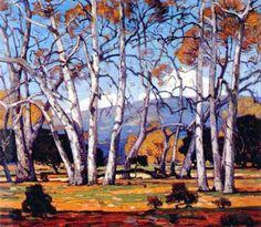 """Sycamore Untangled"" by William Wendt (1865-1946), a California Impressionist artist"