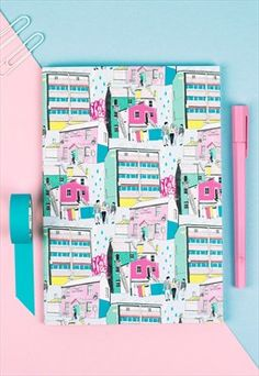 London Colourful Illustrated A5 Notebook