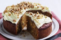 Carrot Cake by Taste. This light, moist carrot cake is topped with cream cheese icing infused with orange zest. Easy Baking Recipes, Gourmet Recipes, Sweet Recipes, Cake Recipes, Dessert Recipes, Simple Recipes, Easy Carrot Cake, Healthy Carrot Cakes, Dinner Party Desserts