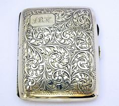 A Birmingham silver cigarette case. 1926. Offered by Faissal Shah Antiques & Jewelleries at Grays