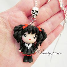 Gothic Lolita ooak necklace made in italy. €25.00, via Etsy.