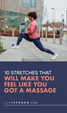 Try these 10 stretches to loosen up all your tight and sore muscles and feel as good as if you'd had an actual massage. (OK, almost as good.) Make You Feel, You Can Do, Like You, How Are You Feeling, Good Stretches, Stretching, Getting A Massage, Strength Training Workouts, Keep Fit
