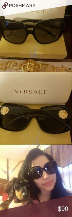 Versace sunglasses great Authentic Versace sunglasses,good condition great for one day in the beach !!!! Versace Accessories Glasses