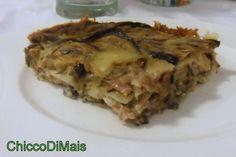 Timballo di melanzane con prosciutto e scamorza (ricetta piatto unico)