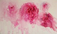 """""""Peony Pleasure"""" More information on my painting on my blog http://watercolourswithlife.blogspot.co.uk/"""