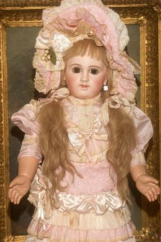 """SO VERY RARE- The coveted E J A Bebe -24"""" tall from matrixqualityantiquedollsbymail on Ruby Lane"""