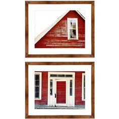 Red Bam 21.5 inch x 17.5 inch Wall Art, Brown