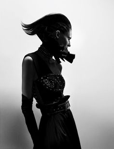Model: Marie Piovesan  Stylist: Ludivine Poiblanc  Hair: Paul Hanlon  Manicure: Elsa Deslandes  Set-design: Jean-Hughes de Chatillon