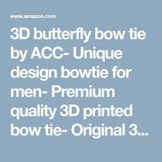 AlexChelaruCreation Black Bow tie by Acc- Unique Design Bowtie for Men- Premium Quality Printed Bow tie- Original Bowtie for Special Occasions Black Bow Tie, Special Occasion, Butterfly, Bows, 3d, The Originals, Amazon, Printed, Store
