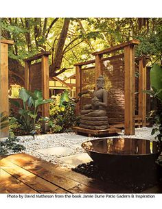 Garden Zen Ideas Meditation Space 61 Ideas For 2019 Meditation Garden, Meditation Space, Yoga Garden, Daily Meditation, Garden Pond, Terrace Garden, Garden Planters, Dream Garden, Garden Inspiration