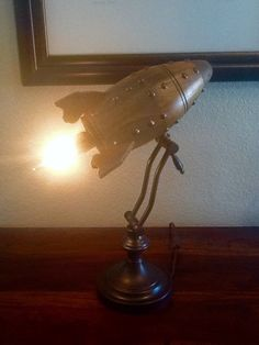 Retro rocket desk lamp by artbug on Etsy