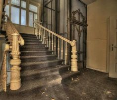 . Abandoned Places, Stairs, Boat, Decor, Germany, Stairway, Dinghy, Decoration, Ruins