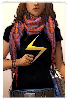 Kamala Khan, whose family is from Pakistan, has devotedly followed the career of the blond, blue-eyed Carol Danvers, who now goes by Captain Marvel, a name she inherited from a male hero. When Kamala discovers her powers, including the ability to change shape, she takes on the code name Ms. Marvel — what Carol called herself when she began her superhero career.