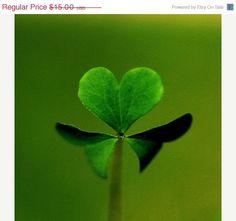4 leaf clover heart.