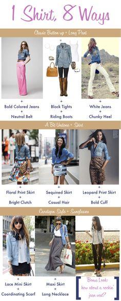 Globetrotter: Travel Tips/Fashion   1 Shirt, 8 Ways (#Travellight)