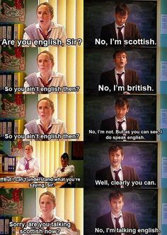 Catherine Tate and David Tennant in literally the best skit ever. They are awesome together!