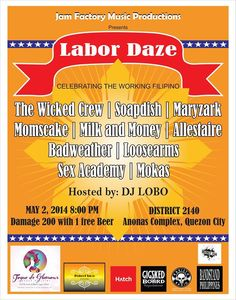« JF Music Productions presents Labor Daze - May 2 @ District 2140 QC »
