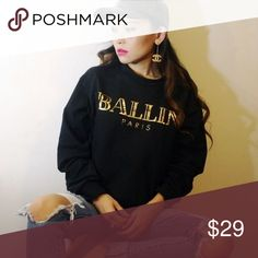Brian Lichtenberg Ballin Paris Crew Neck Brian Lichtenberg Ballin Paris crew neck with gold letters. Lightly worn. Brian Lichtenberg Sweaters Crew & Scoop Necks