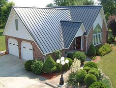 1000 images about metal roofing on pinterest for Red brick house with metal roof