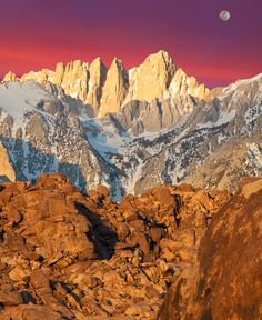 I want to hike here this summer!     Photograph Supermoon over Mt. Whitney by Bruce Kelley on 500px