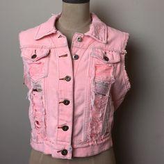 Distressed/destroyed LF millau vest Fabulous statement piece! Great spring/summer wardrobe addition! 100% cotton LF Jackets & Coats Vests