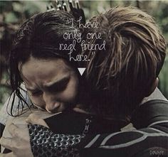 I love this because this is the moment that finnick realizes that its not just a fake thing to stay alive..... he realizes that katniss loves this boy even if she jasnt realized it herself