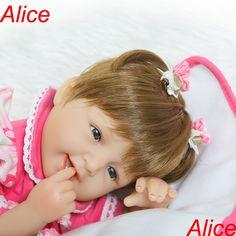 59.19$  Watch now - http://aliapx.worldwells.pw/go.php?t=32787940742 - Pretty Alice girl doll reborn 40cm soft cloth body silicone newborn dolls fashion child gift dolls bebe menina bonecas reborn 59.19$
