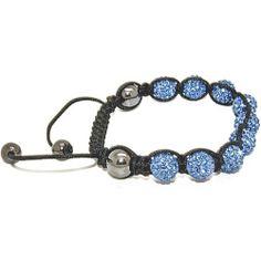 Blue Chip Unlimited - Unisex Aqua Blue 10mm Pave Crystal Bead Shamballa Bracelet Fashion Jewelry Blue Chip Unlimited. $29.95. macrame toggle lock. heavy duty adjustable nylon cord. unisex hip hop bracelet. symbolizes peace, tranquility, happieness & oneness. 10mm pave crystal disco ball beads