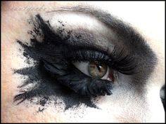 #EyeShadow | Eye #Makeup | #Fantasy #Hair & Makeup | #Dramatic Eye Makeup | #Beauty | #Black | #Smokey