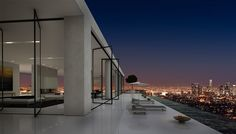 A penthouse spanning the floor of the Residences at W Hollywood is one of the largest penthouse property Penthouse For Sale, Luxury Penthouse, Luxury Apartments, Luxury Homes, Los Angeles Apartments, Los Angeles Homes, Contemporary Patio, Pent House, Luxury Real Estate