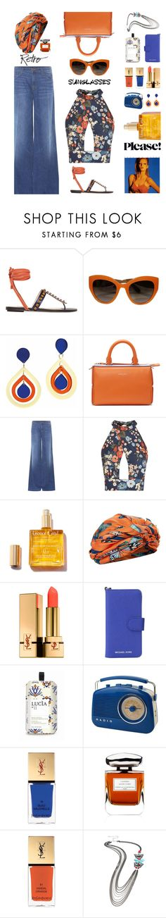"""""""Retro Sunglasses please!"""" by nineseventyseven ❤ liked on Polyvore featuring Attico, Dolce&Gabbana, Toolally, Emilio Pucci, J Brand, Love, Dee Di Vita, Yves Saint Laurent, MICHAEL Michael Kors and Lucia"""