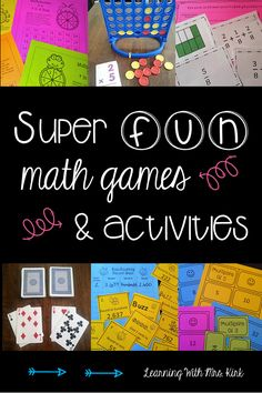 Want to get your students engaged and excited about math? Math games can help students to be connected and learn math skills! Math Math, Guided Math, Maths, Math Classroom, Multiplication, Fractions, Fun Math Games, Math Activities, Math Skills