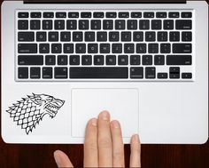 House stark winter is coming Decal Sticker Vinyl For All Laptop Keyboard Design.