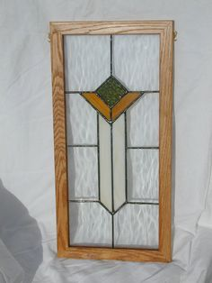 Arts and Crafts Style Stained Glass Panel by AHome4Everything, $80.00