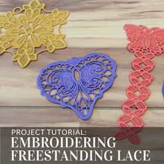 Master embroidering freestanding lace with these tips and tricks from Embroidery Library.