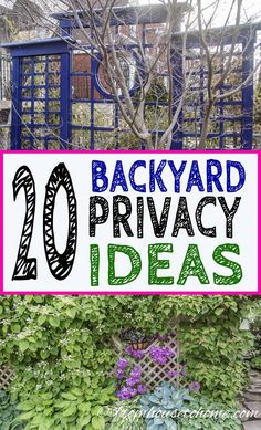 These outdoor privacy ideas create a privacy screen for your backyard garden that will keep the neighbors from looking in. Include them in the garden design for your landscaping to create a yard you'll want to spend time in. Privacy Screen Outdoor, Backyard Privacy, Backyard Landscaping, Privacy Screens, Garden Ideas For Privacy, Privacy Hedge, Backyard Fences, Landscaping Ideas, Porches