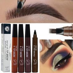 4 Colors Microblading Waterproof Eyebrow Tattoo Pen 4 Head Fine Sketch Enhancer Fork Tip Eyebrow Tattoo Pencil Tint Gel Makeup Tool. microblading pen makes your eyebrown look stunning! need to do microblading surgeries that cost a bomb! Waterproof Eyebrow, Eyebrow Pencil, Eyebrow Makeup, Eyebrow Tips, Eyebrow Beauty, Eyebrow Tinting, Tattoo Pencil
