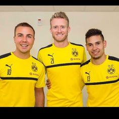 Schürrle, Götze and Guerreiro at their first day for Borussia Dortmund - Preseason 2016/17