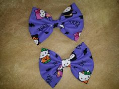 Check out this item in my Etsy shop https://www.etsy.com/listing/243890614/halloween-hello-kitty-fabric-bows