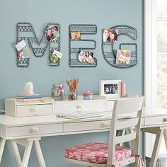 lovely! am in love with the draws on top and the letters above so cute