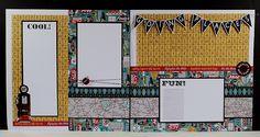 scrapbook layout travel 4 to 6 photos